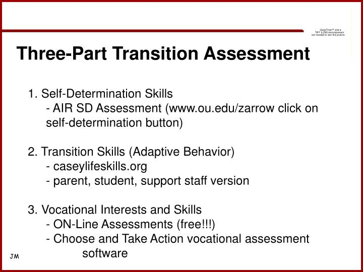 Three-Part Transition Assessment