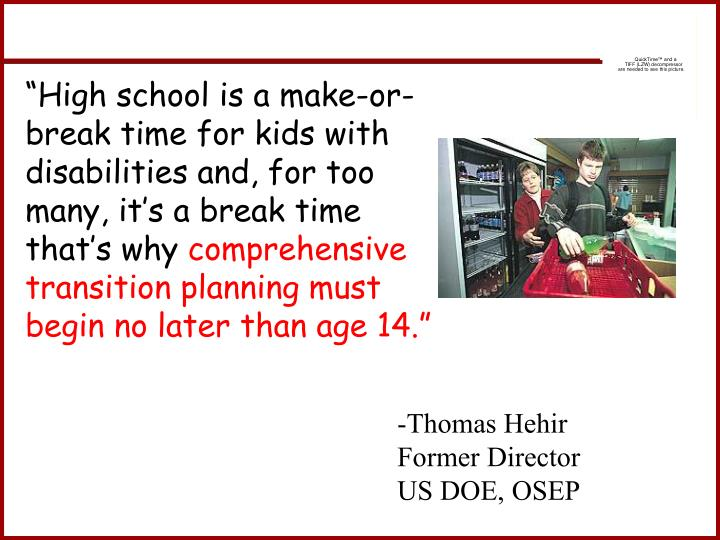 """High school is a make-or-break time for kids with disabilities and, for too many, it's a break time that's why"