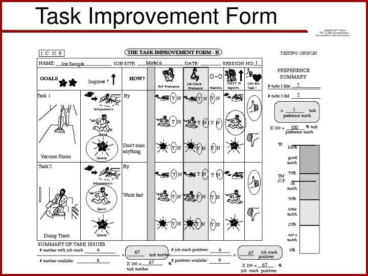 Task Improvement Form