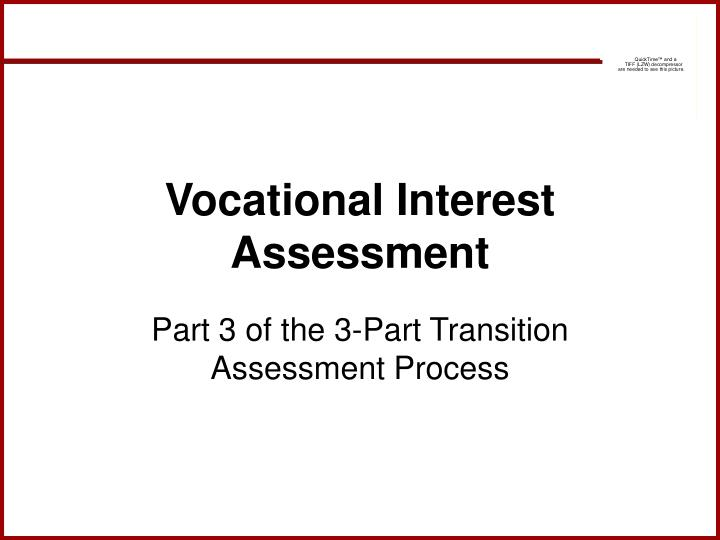 Vocational Interest Assessment