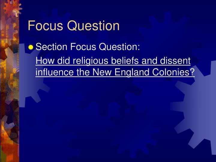 Focus Question