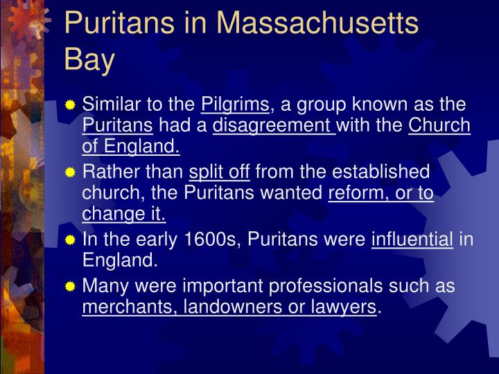 Puritans in Massachusetts Bay