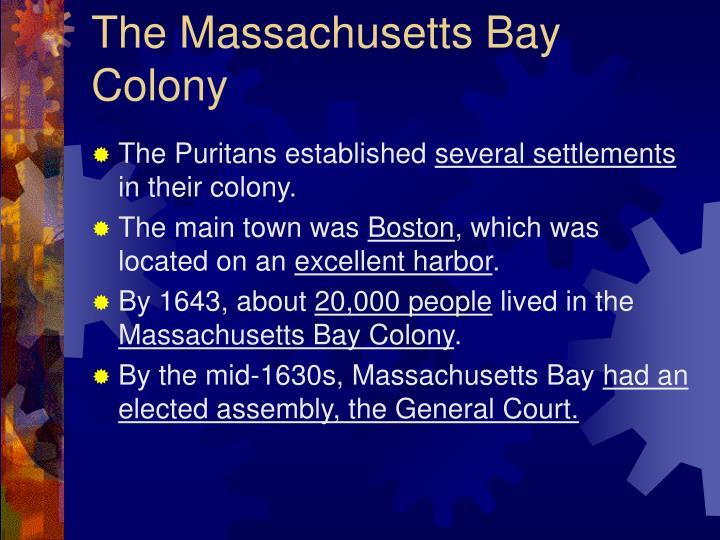 The Massachusetts Bay Colony