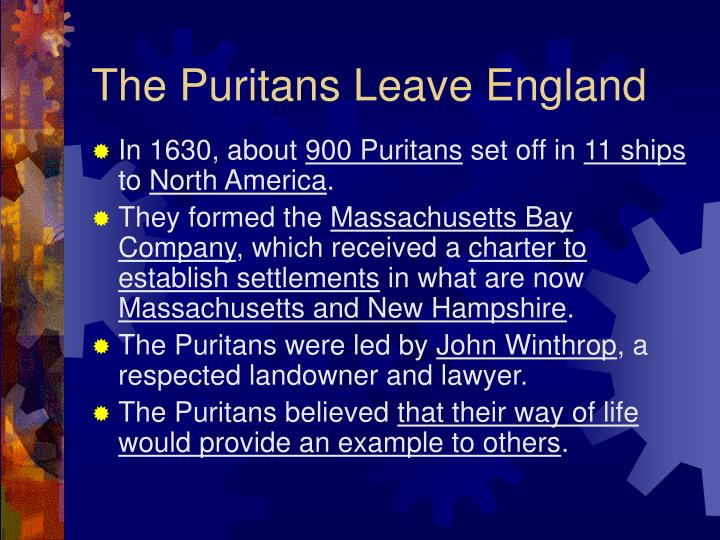 The Puritans Leave England