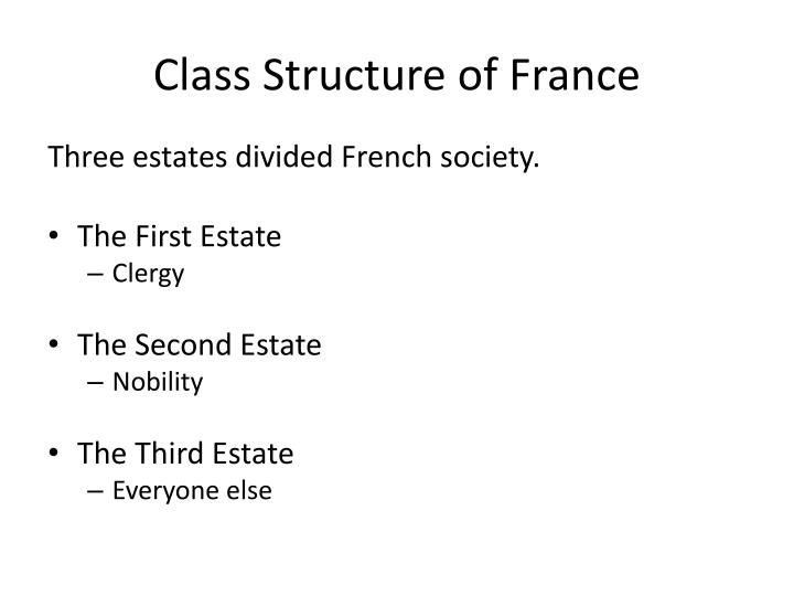 Class Structure of France