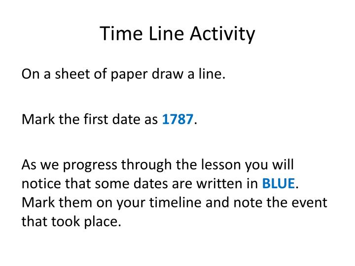 Time Line Activity