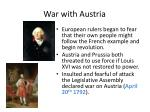 war with austria