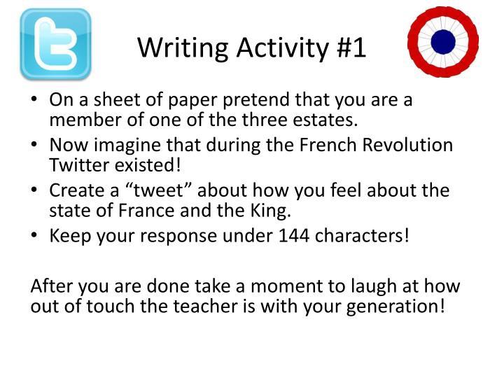 Writing Activity #1