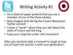 writing activity 1