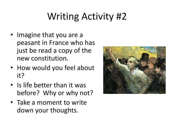 Writing Activity #2