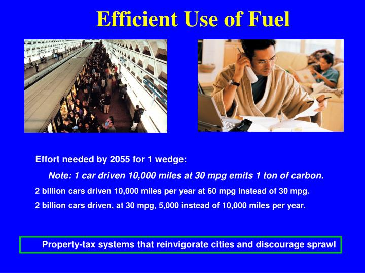 Efficient Use of Fuel
