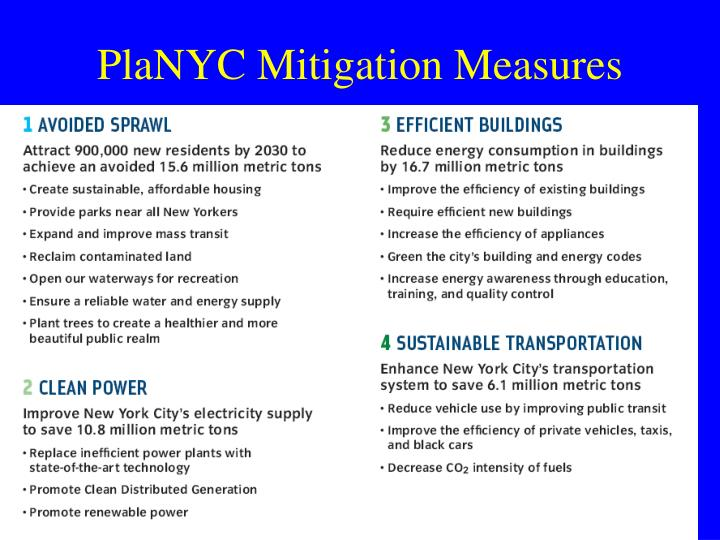 PlaNYC Mitigation Measures