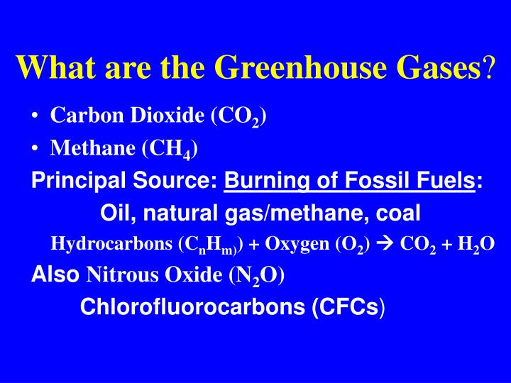 What are the Greenhouse Gases
