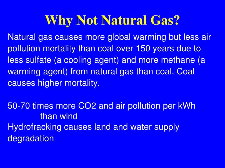 Why Not Natural Gas?