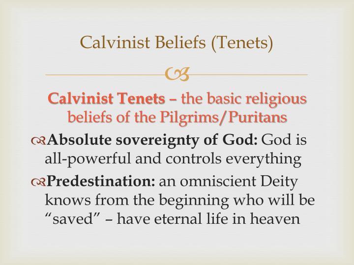 Calvinist Beliefs (Tenets)