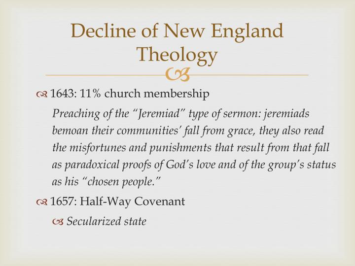 Decline of New England Theology
