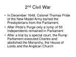2 nd civil war