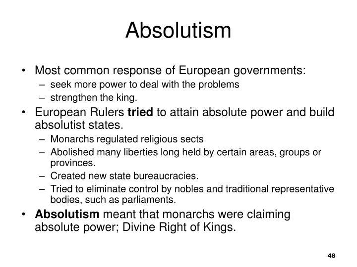 Absolutism