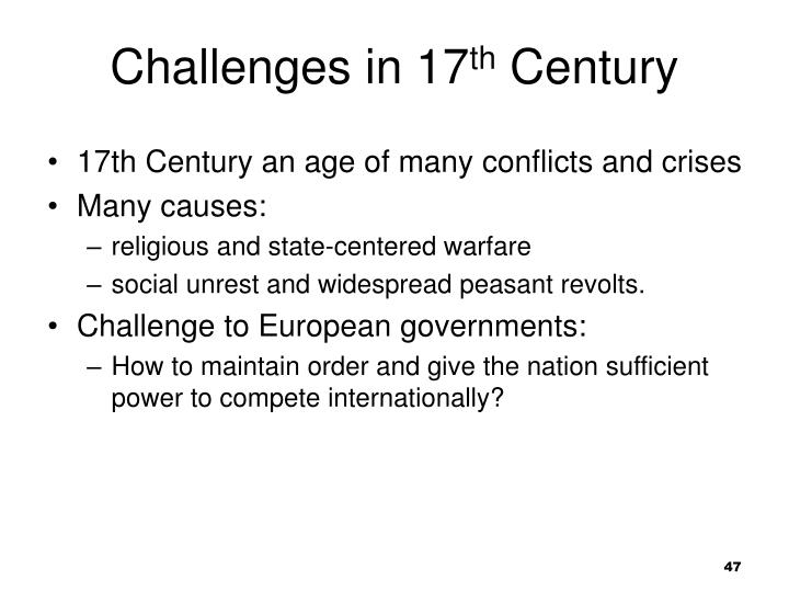 Challenges in 17