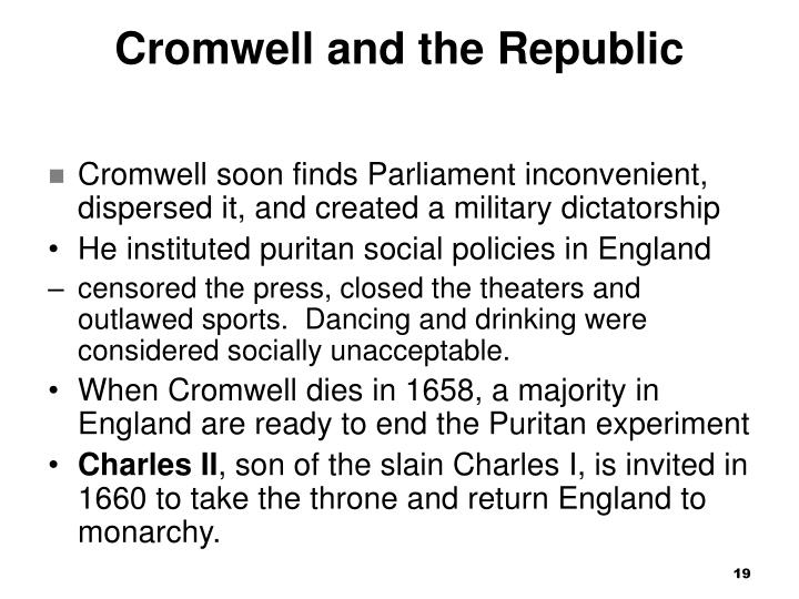 Cromwell and the Republic