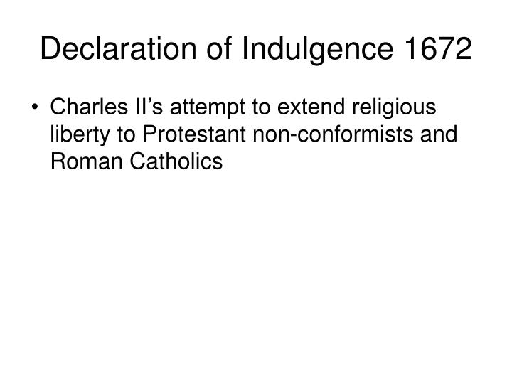 Declaration of Indulgence 1672