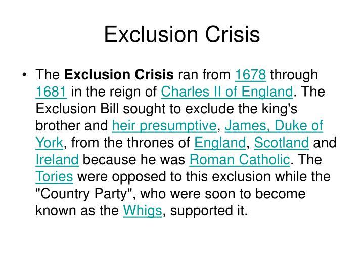 Exclusion Crisis