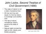 john locke second treatise of civil government 1690