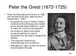 peter the great 1672 1725