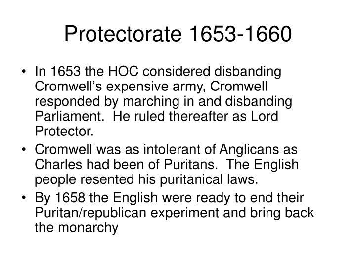 Protectorate 1653-1660