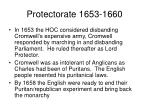 protectorate 1653 1660