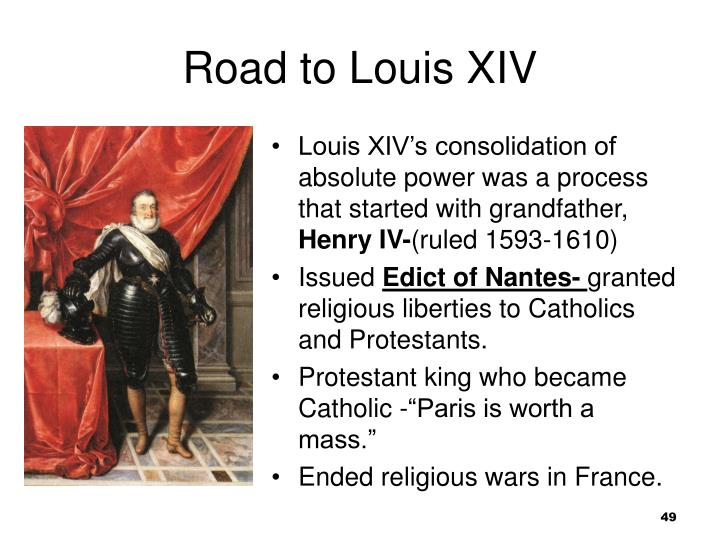 Road to Louis XIV