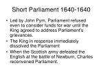 short parliament 1640 1640