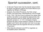 spanish succession cont
