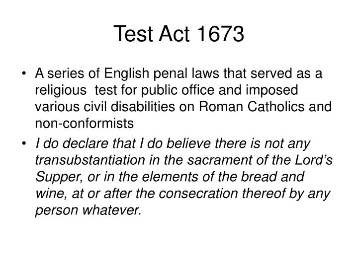 Test Act 1673