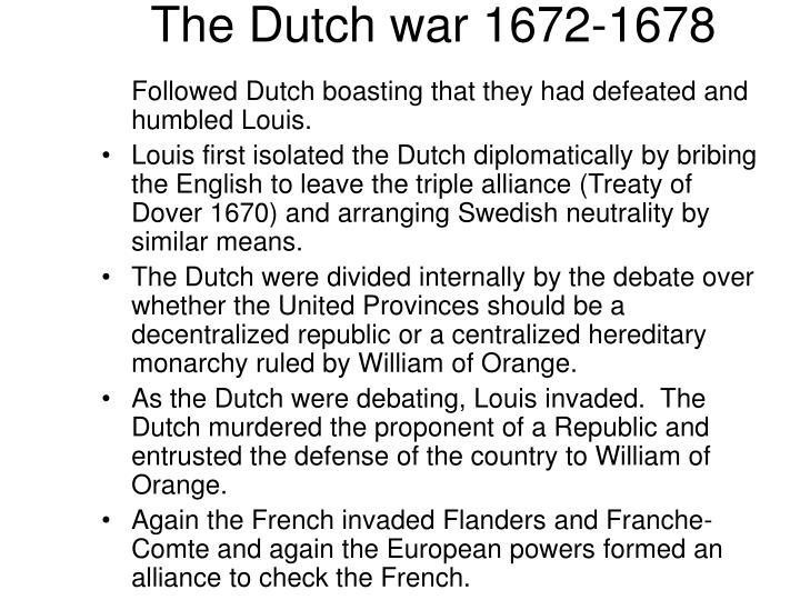 The Dutch war 1672-1678