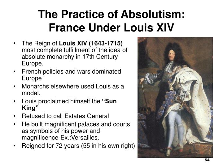 The Practice of Absolutism: