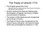 the treaty of utrecht 1713