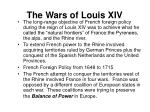 the wars of louis xiv
