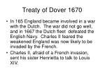 treaty of dover 1670