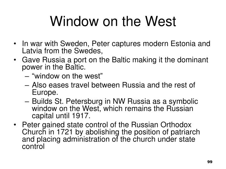 Window on the West