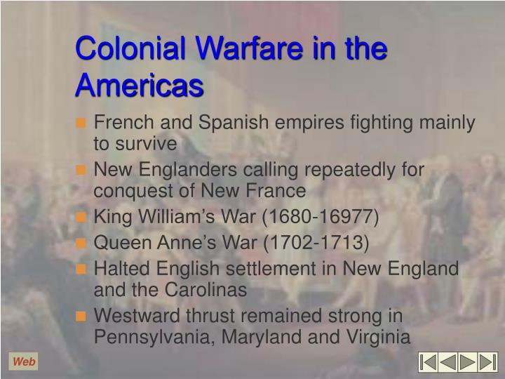 Colonial Warfare in the Americas