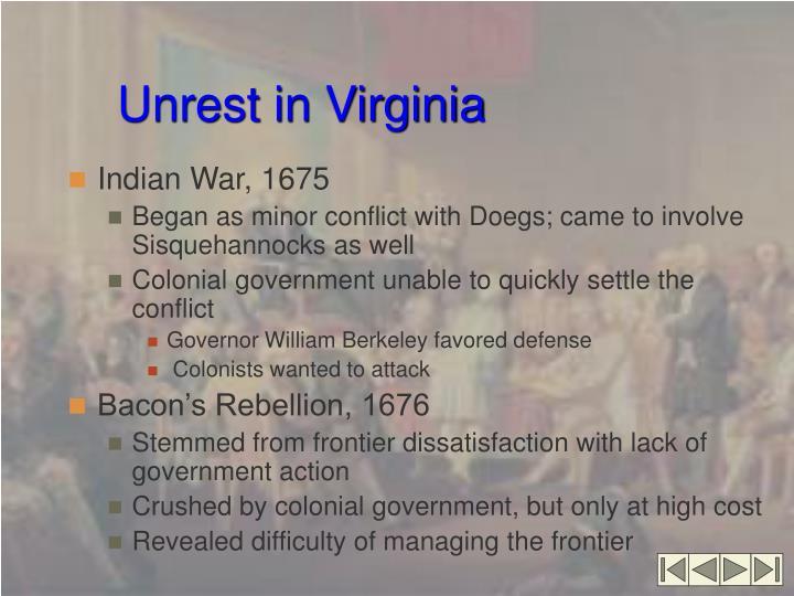 Unrest in Virginia