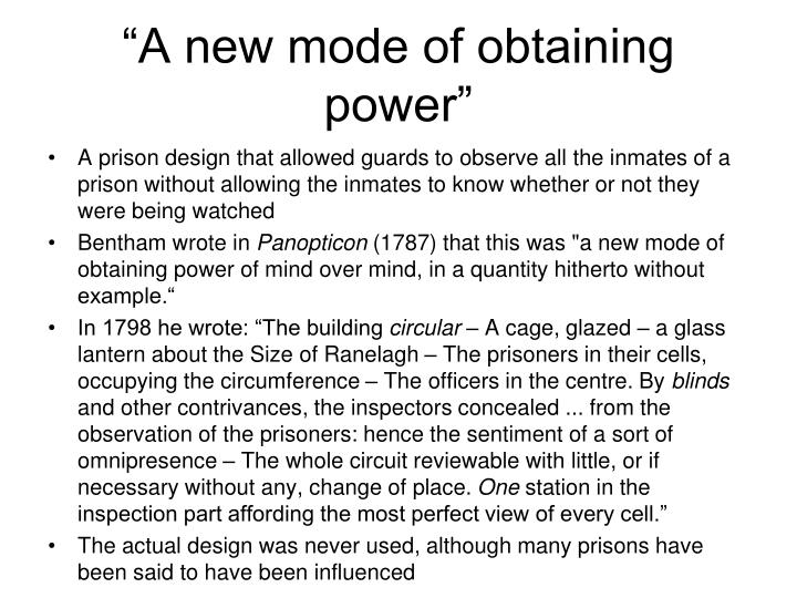 """A new mode of obtaining power"""