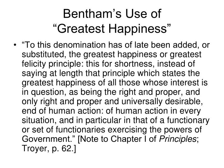 Bentham's Use of