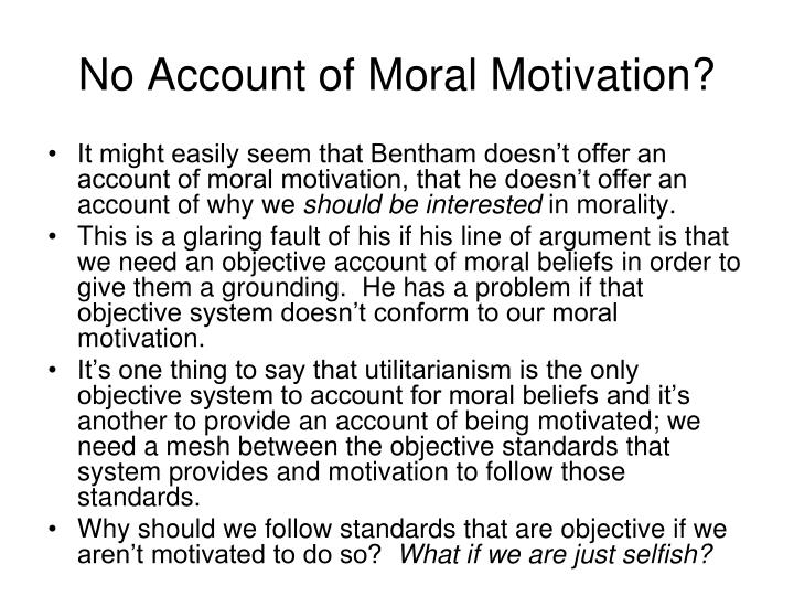 No Account of Moral Motivation?