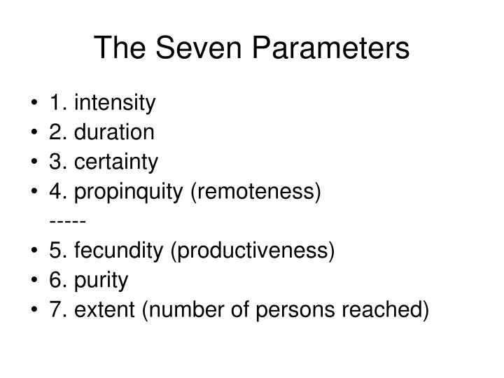 The Seven Parameters