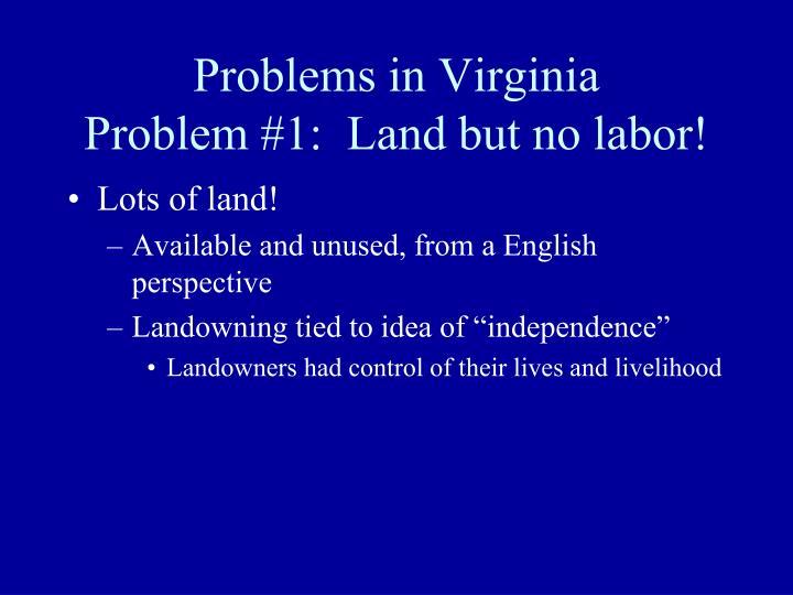 Problems in Virginia