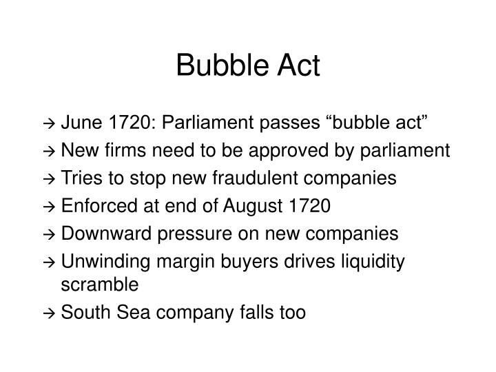 Bubble Act