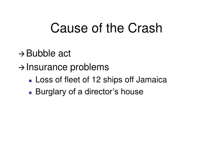 Cause of the Crash