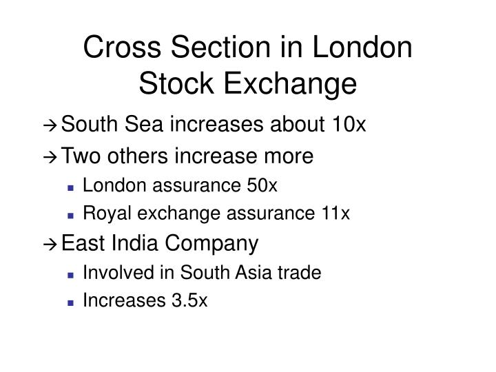 Cross Section in London Stock Exchange